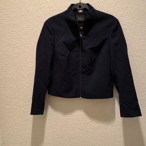 A-K-R-I-S-, navy blue luxury jacket, size 10
